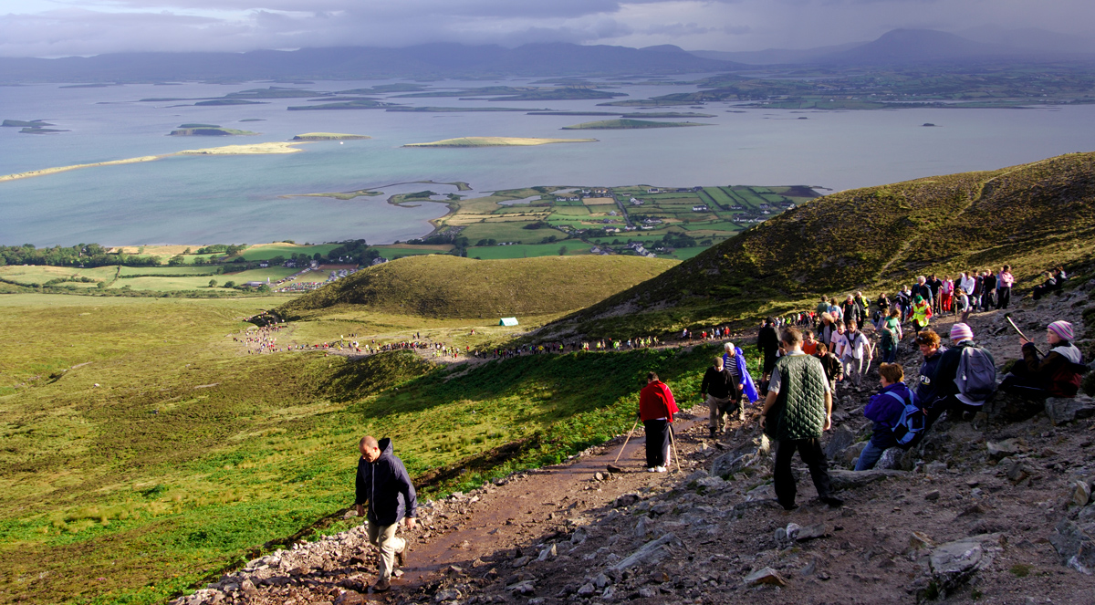 Pilgrims on Croagh Patrick
