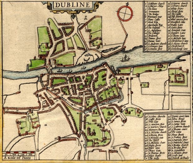 1600 map of Dublin